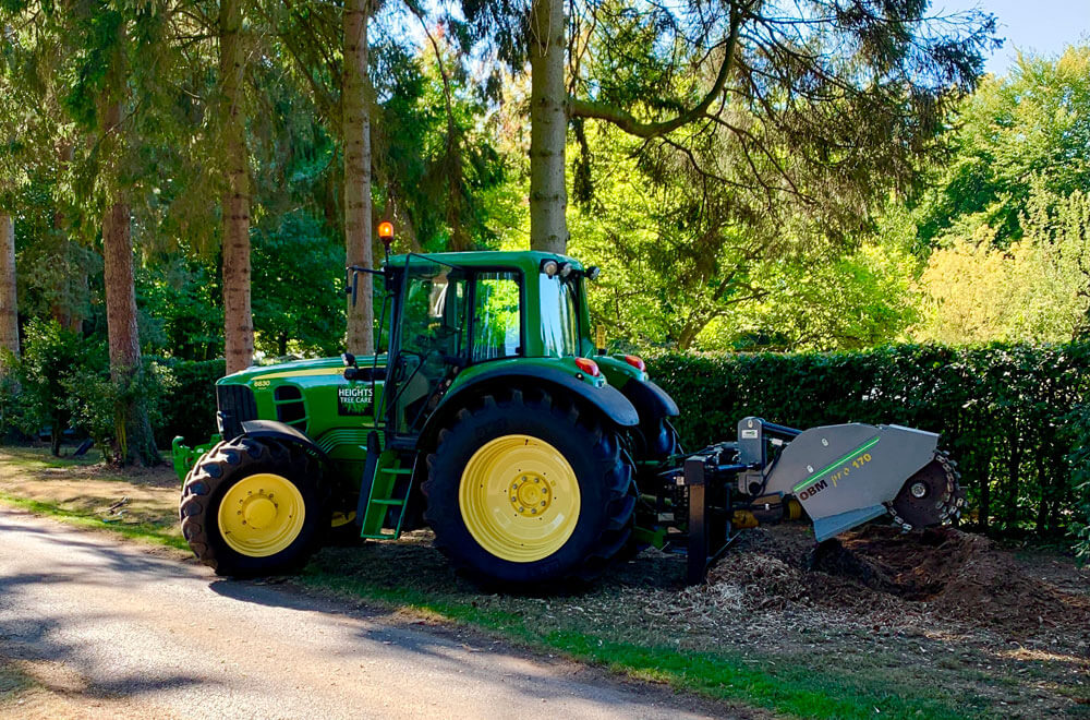 Tractor being used for woodland and estate management